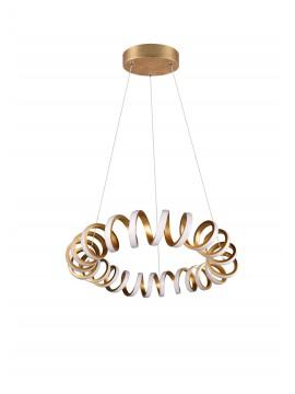 Modern trio gold design led chandelier 325110179 Curl