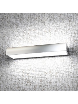 Wall lamp 2 lights modern chrome with tpl glass 1053-ag