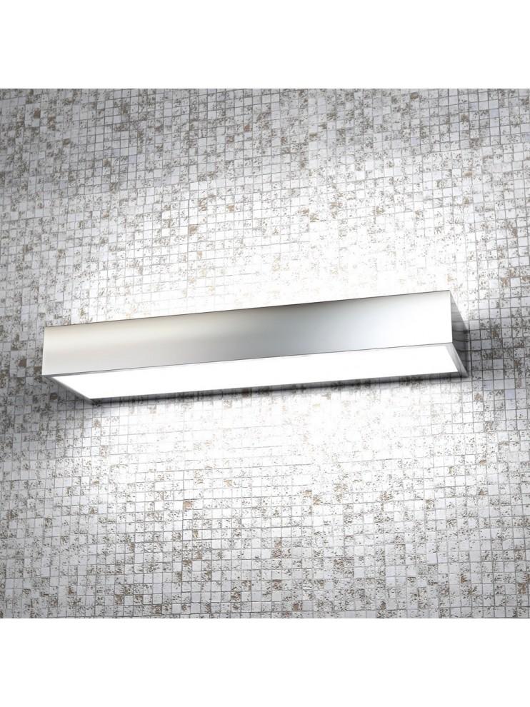 Applique 2 luci moderno cromato lucido con vetro tpl1053-ag