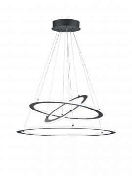 Modern led chandelier 3 anthracite circles trio 321910342 Durban