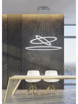 Modern led chandelier 3 nickel trio circles 321910307 Durban