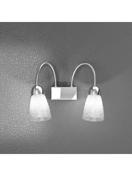 Applique 2 luci moderno cromato trasparente tpl 1011-a2ht