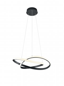 Modern design black trio led chandelier R32051132 Course