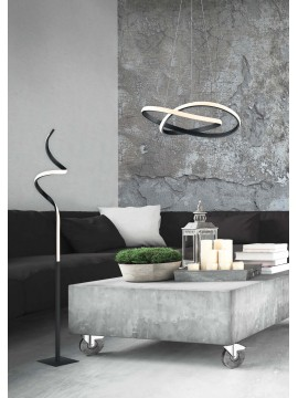 Modern design black trio led floor lamp R42051132 Course