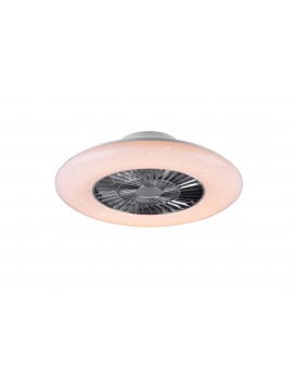 Modern led ceiling light with fans and trio remote control R62402106 Visby