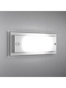 Wall lamp 2 lights modern white glass tpl 1087-agbi