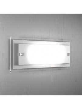 Wall lamp 2 lights modern white glass tpl 1087-agbi