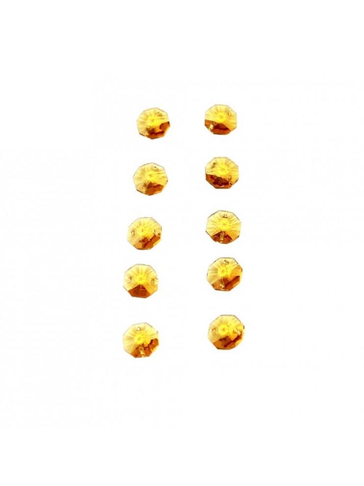 10pz Ottagono Cristallo Giallo