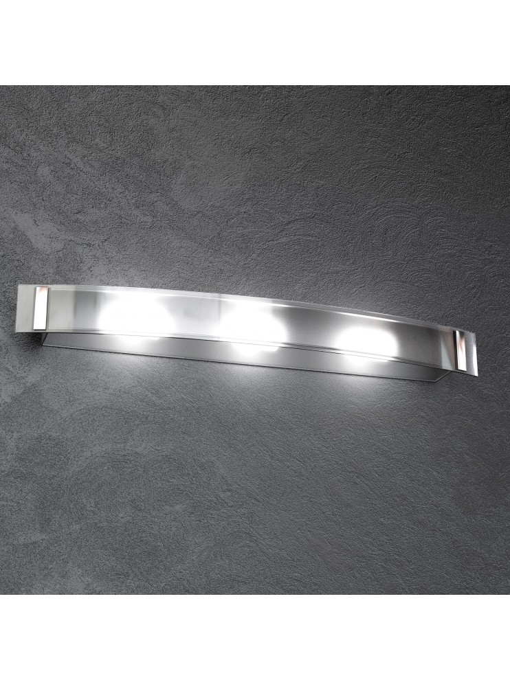 Wall lamp 3 lights modern chrome with glass tpl1094-ag