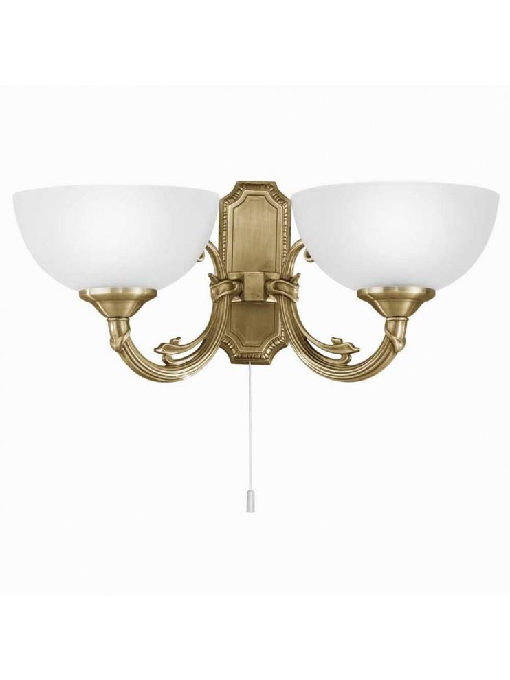 Classic wall light 2 lights bronze gold GLO 82752 Savoy