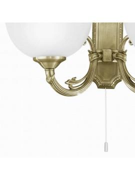 Applique classico 2 luci bronzo oro GLO 82752 Savoy