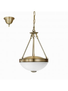 Classic chandelier 2 lights bronze gold GLO 82747 Savoy