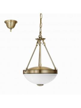 Classic chandelier 2 lights bronze gold GLO 82747 Savoy
