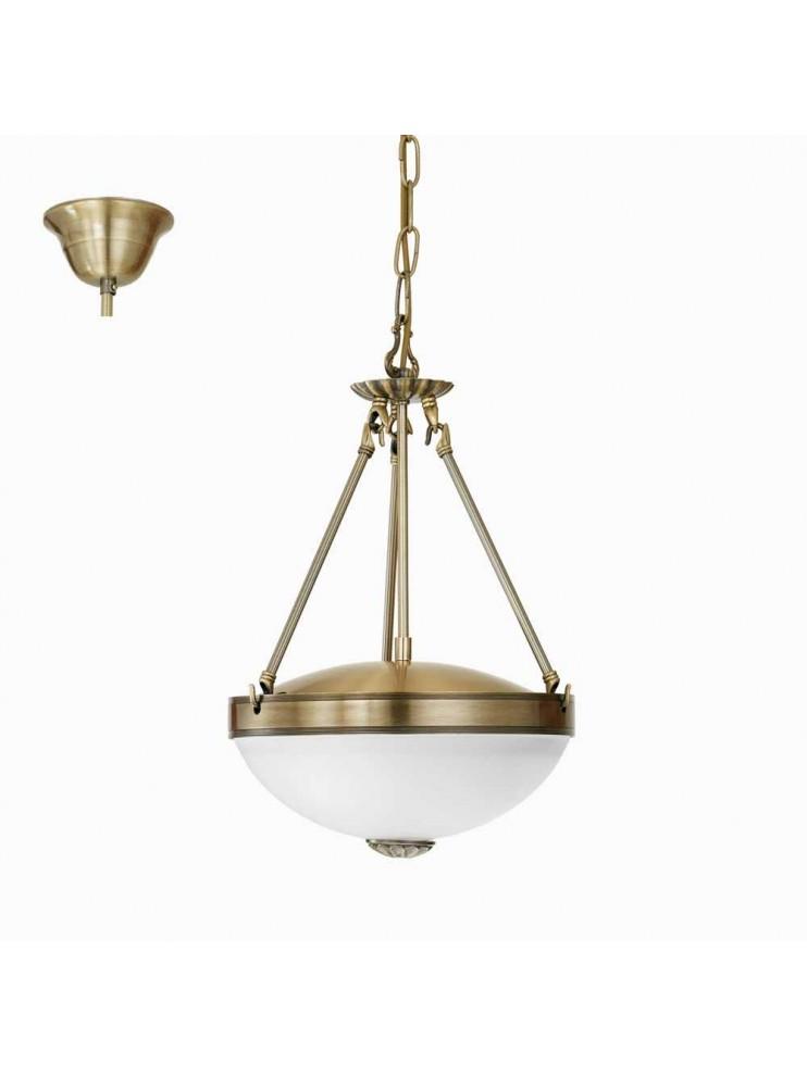 Lampadario classico 2 luci bronzo oro GLO 82747 Savoy