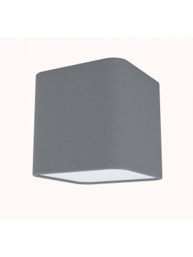 Modern 1 light gray fabric wall lamp GLO 99304 Posaderra