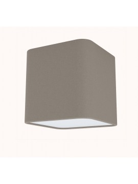 Modern wall lamp in dove gray fabric with 1 light GLO 99302 Posaderra