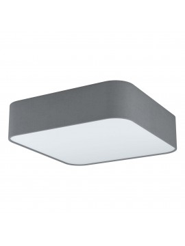 Modern square ceiling lamp in gray fabric 5 lights GLO 99092 Posaderra