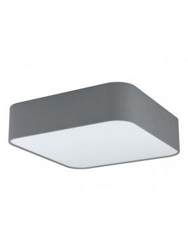 Plafoniera moderna quadrata in tessuto grigio 5 luci GLO 99092 Posaderra