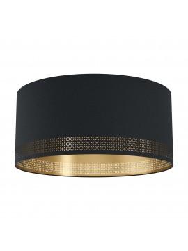 Modern ceiling lamp in black and gold fabric 1 light GLO 99272 Esteperra