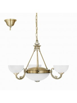 Classic chandelier 5 lights bronze gold GLO 82748 Savoy