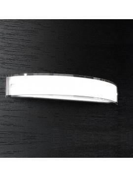 Applique 3 luci moderno cromato vetro bianco tpl1076-a70