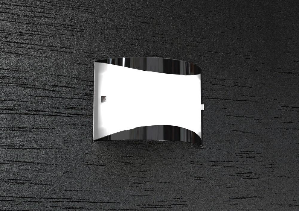 Applique 2 luci moderno vetro bianco nero tpl1089 a3one