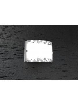 Applique 2 luci moderno foglia argento tpl1089-a30fa