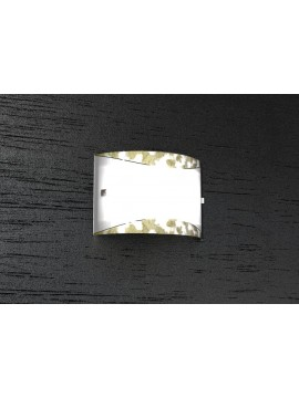 Applique 2 luci moderno foglia oro tpl1089-a30fo