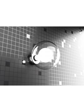 Wall light 1 light chrome modern tpl1098-abi