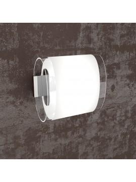 Applique 1 luce bianco con vetro tpl1132-ap