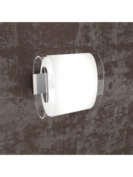 Wall light 1 light white with glass tpl1132-ap