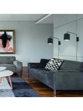 Modern design black wall light with 1 light GLO 99348 Staiti 1