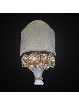 Ceramic wall light 1 light white gold leaf BGA 2664 / A