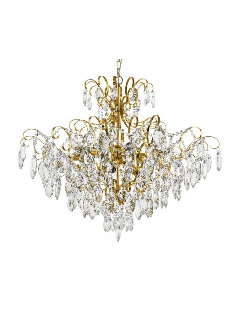 Classic 9-light gold chandelier GLO 39606 Fenoullet 1