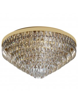 Classic gold ceiling light with swarovsky design 16 lights GLO 39459 Valparaiso