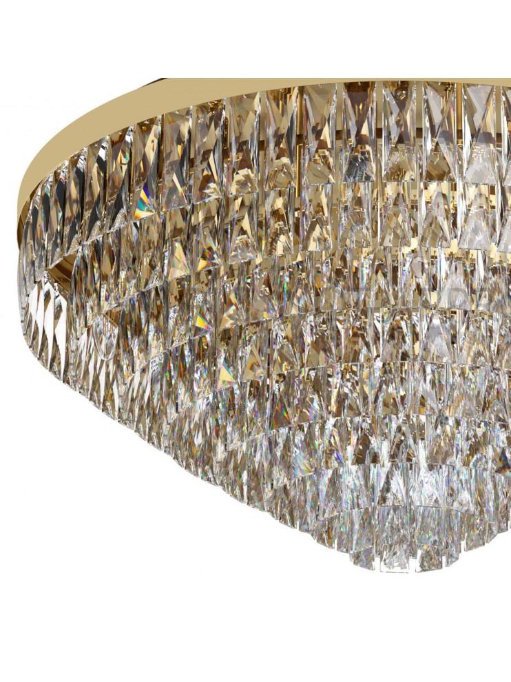 Classic gold ceiling light with swarovsky design 16 lights GLO 39459 Valparaiso