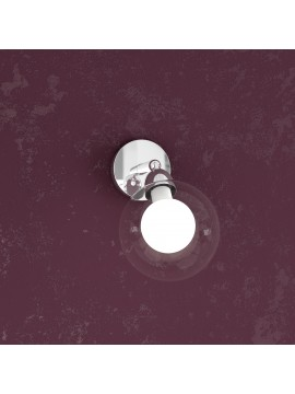1 light wall lamp with glass sphere tpl1098-f1bi