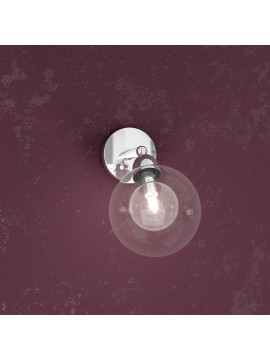 1 light wall lamp with glass sphere tpl1098-f1tr