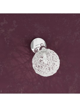 1 light wall lamp with aluminum ball tpl1098-f1go