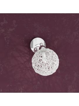 Applique 1 luce con sfera in alluminio tpl1098-f1go