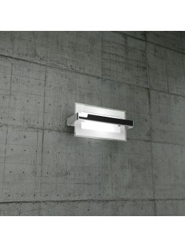 Wall light 1 light chrome glass tpl1106-apcr