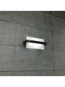 Applique moderno 1 luce nero in vetro tpl1106-apne