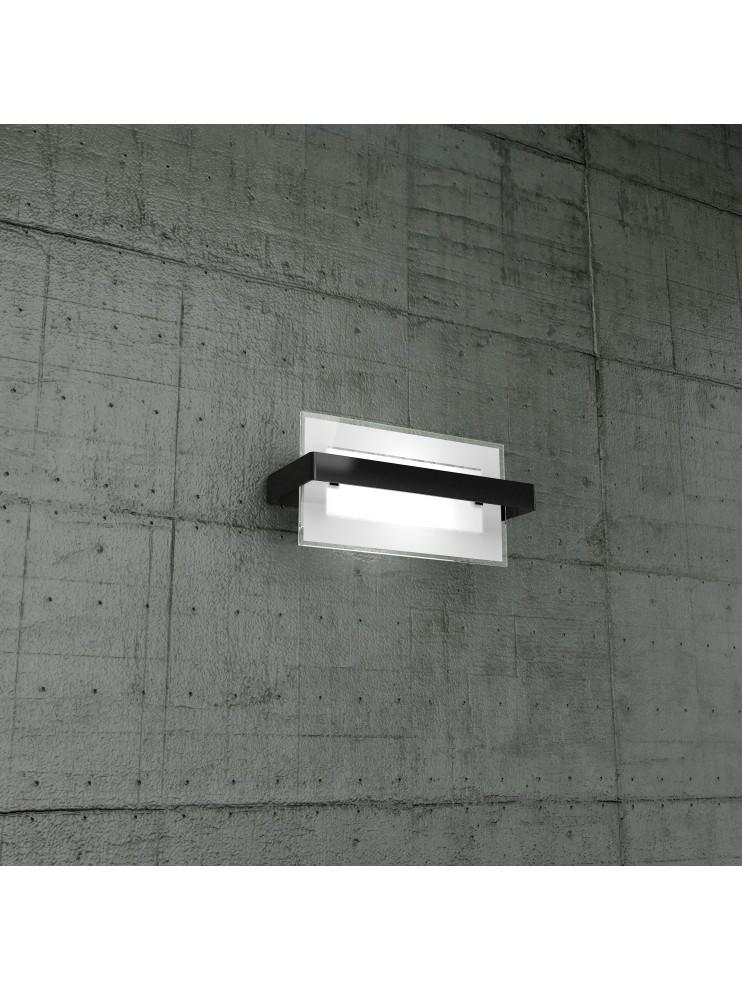 Modern wall light 1 light black glass tpl1106-apne