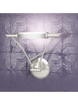 Applique 1 luce regolabile nickel tpl1012-ans