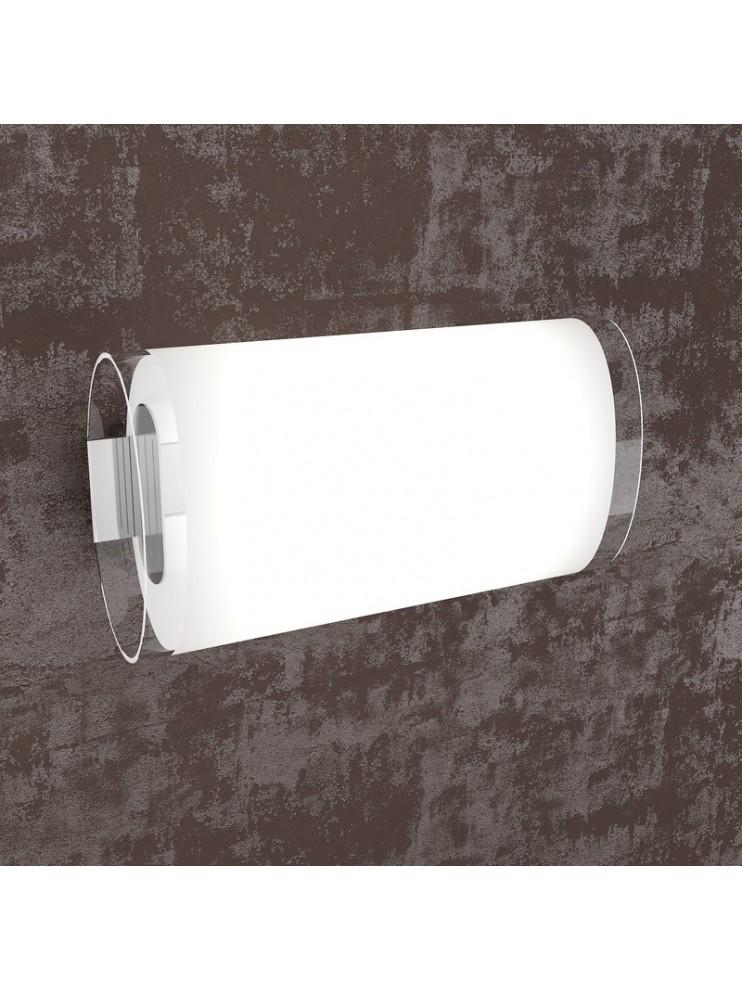 Applique 2 luci bianco con vetro tpl1132-ag