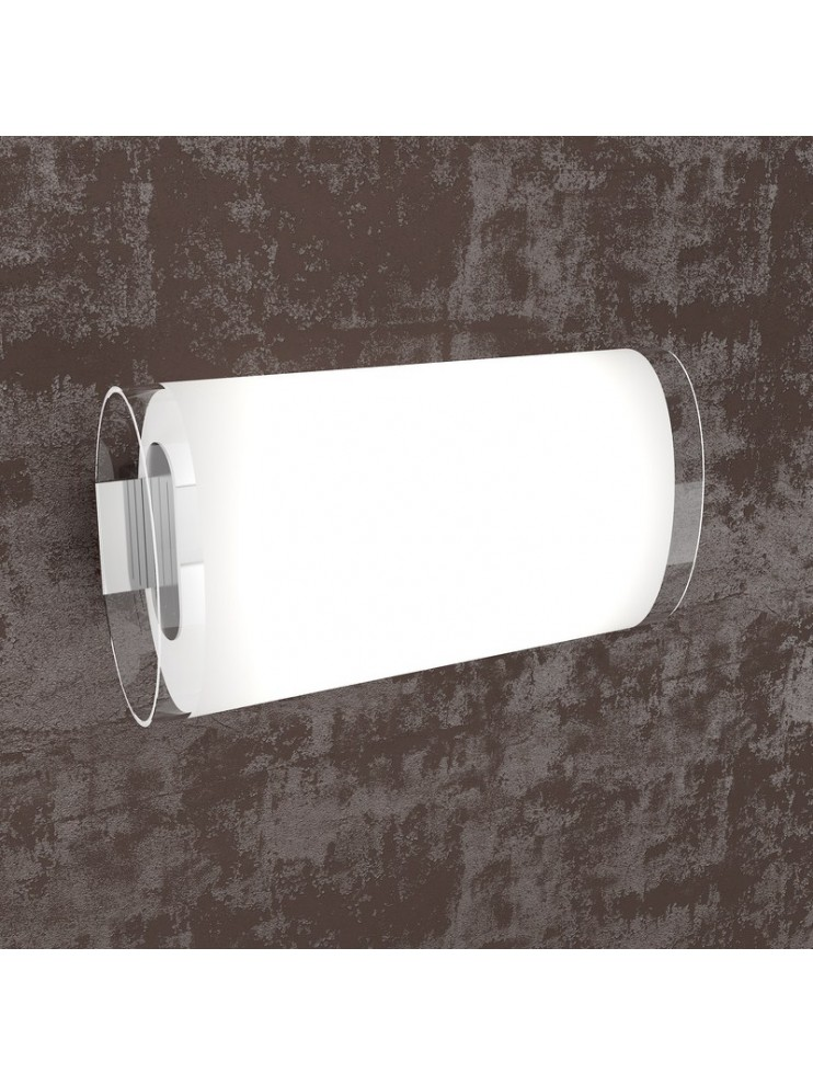 Wall lamp 2 lights white with glass tpl1132-ag