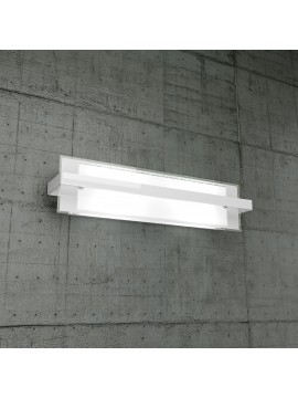 Wall lamp 2 lights white glass tpl1106-agbi