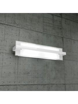 Applique 2 luci bianco in vetro tpl1106-agbi