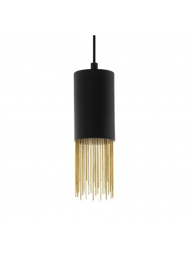 Modern black and gold chandelier with 1 light GLO 39642 Counuzulus