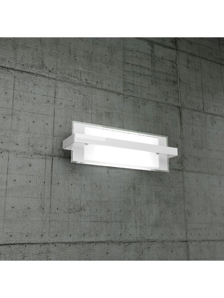 Wall lamp 2 lights white glass tpl1106-ambi